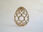 Filigree Egg - 3D Printed in Metal for Easter