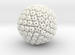 Herpes Simplex virus capsid, radial colour 500kx m