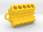 V10 Engine block pendant/keychain