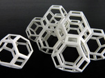 Space filling truncated octahedra