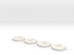 Sabacc Chips - 1 Credit, 5 Credit, 25 Credit and 5