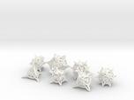 'Center Arc' balanced dice set + 10D10 Decader