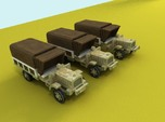 6mm WW1 light trucks (3) With tent