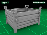 Stackable container type-1 (1x - 1/16)