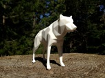 14cm Low Poly Wolf Statue