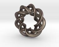 Charm Bead 3 strand mobius spiral