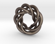 4 strand right hand mobius spiral charm bead