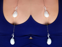 Nepenthese Maxima Pendant in White Strong & Flexible Polished