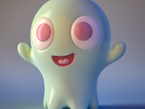 Boo-Boo the little ghost in Full Color Sandstone