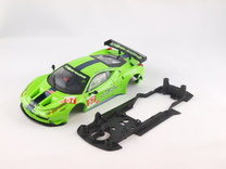 S08-ST1 Chassis for Carrera Ferrari 458 GT2 STD/LM in Black Strong & Flexible