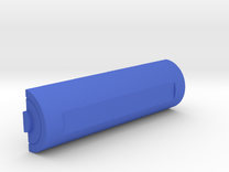 Battery keychain in Blue Strong & Flexible Polished