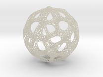 Voronoi Sphere 200mm in Transparent Acrylic