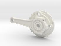 Push Rod Disk RH  in White Strong & Flexible