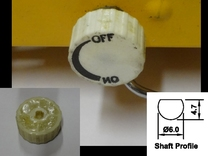 Replacement Knob for Gasmate Portable LPG Cooker in White Strong & Flexible