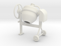 Cement mixer 02. 1:24 Scale in White Strong & Flexible