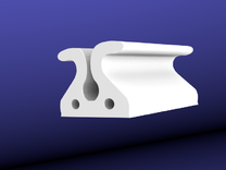 Cord Holder / Cable Holder in White Strong & Flexible Polished