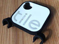 Tile Stealth Bike Tracker (Clip - Old Tile) in Black Strong & Flexible