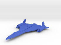 SR-71 Ornament in Blue Strong & Flexible Polished