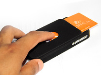 Business Card Iphone Cover in Black Strong & Flexible