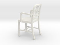 Miniature Alum Chair 2 1:18Scale (not full size) in White Strong & Flexible
