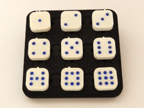 Dancing Dice & Dominoes Puzzle in White Strong & Flexible