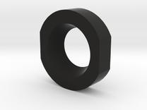 Shoulder Clip Locking Ring  in Black Strong & Flexible