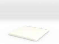Mini Base Round Lip 100x100 (full) in White Strong & Flexible Polished