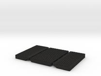 00 4mm FOOT CROSSING in Black Acrylic