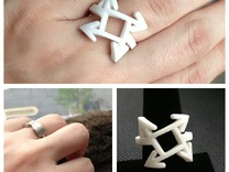 Which direction? Ring  in Polished Silver