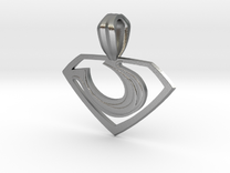 Zod Pendant - Small in Raw Silver