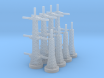 Radar Towers 2x4 Large in Frosted Ultra Detail