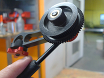 Glue-on gear-adapter in White Strong & Flexible