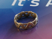 Weave Ring in White Strong & Flexible Polished
