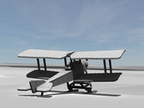 Sikorsky S-16 with skis [resting position] in White Strong & Flexible: 1:144