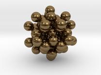 Diamond Blackberry Pendant C56 in Raw Bronze