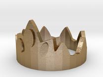 Dice Of Crowns - Metal Crown in Polished Gold Steel