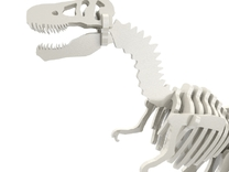 T-Rex Puzzle (17cm) in White Strong & Flexible