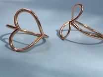 Infinity Heart Ring  in 14k Rose Gold Plated: 8 / 56.75