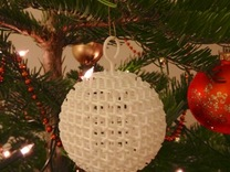 Starry Christmas Ball D50 in White Strong & Flexible