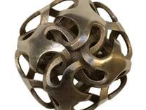 Rhombic Dodecahedron I, medium in White Strong & Flexible