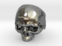 Mammoth Skull Ring Without Jaw in Polished Silver: 9 / 59