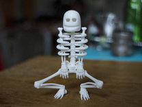 Cursed Skeleton in White Strong & Flexible Polished