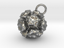 Adenovirus Pendant 20mm diameter in Raw Silver