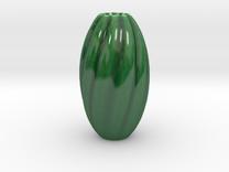 Flower Vase in Gloss Oribe Green Porcelain