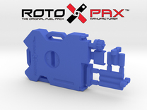 AJ10041 RotopaX 2 Gallon Fuel Pack - BLUE in Blue Strong & Flexible Polished