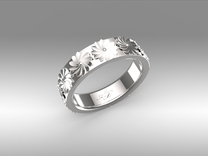 Flowers in Spring in Polished Silver