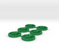 Star Wars X Wing Evade Tokens Set Of 6 in Green Strong & Flexible Polished