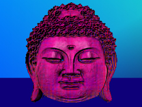Buddhahead in Full Color Sandstone