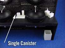 Bath Single Canister 1:12 scale in White Strong & Flexible Polished