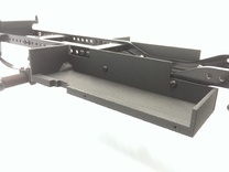 CMAX+Hilux RIGHT Battery Tray in Black Strong & Flexible